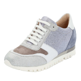 LLOYD Damenschuh mit verstecktem Keilabsatz Sneakers Low silber Damen Gr. 36,5