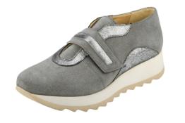 Plateau Sneaker Klett Slipper Heine